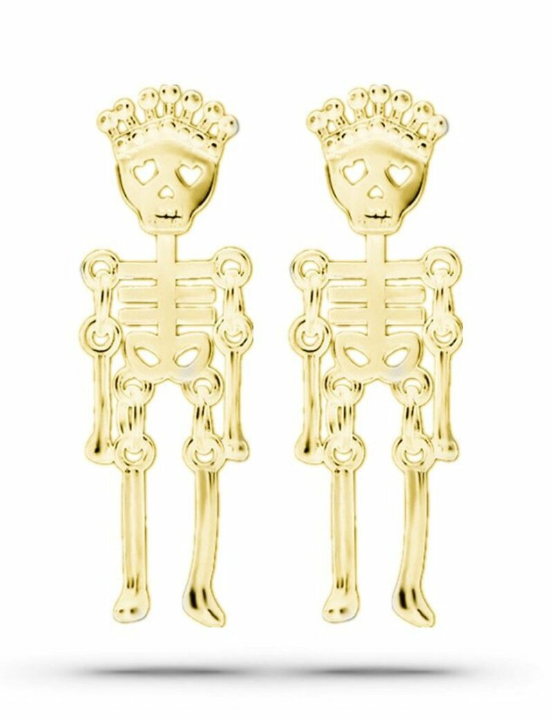 Queen Skull Gold Earrings