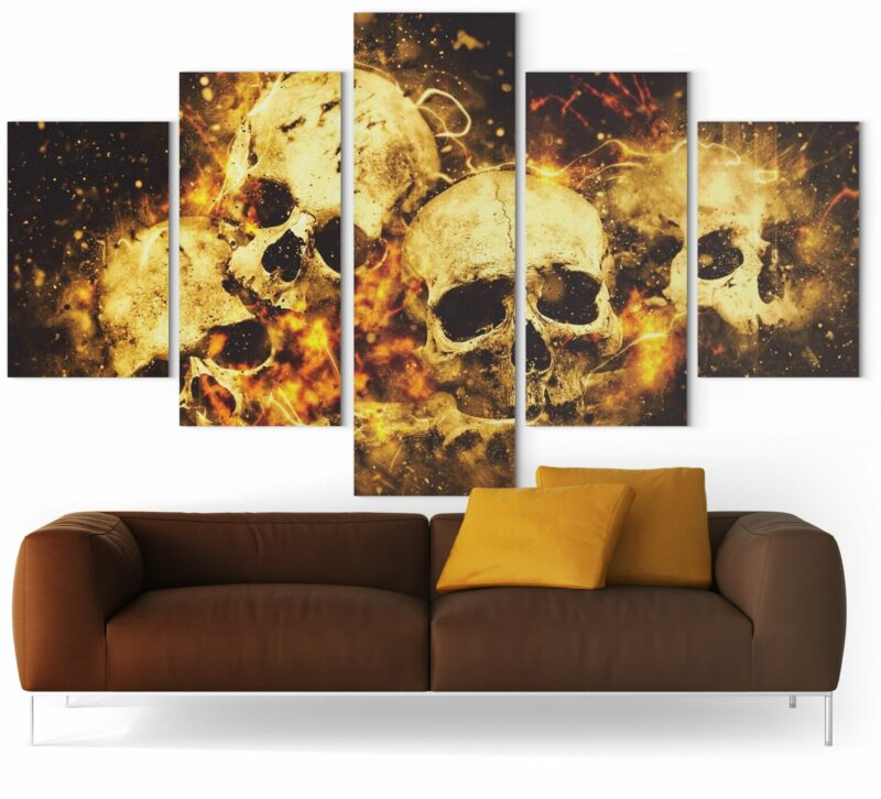 Picture Skull On Fire