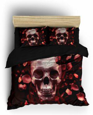 Romantic Skull Duvet Cover