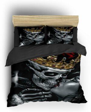 Comforter Cover Skull Crown