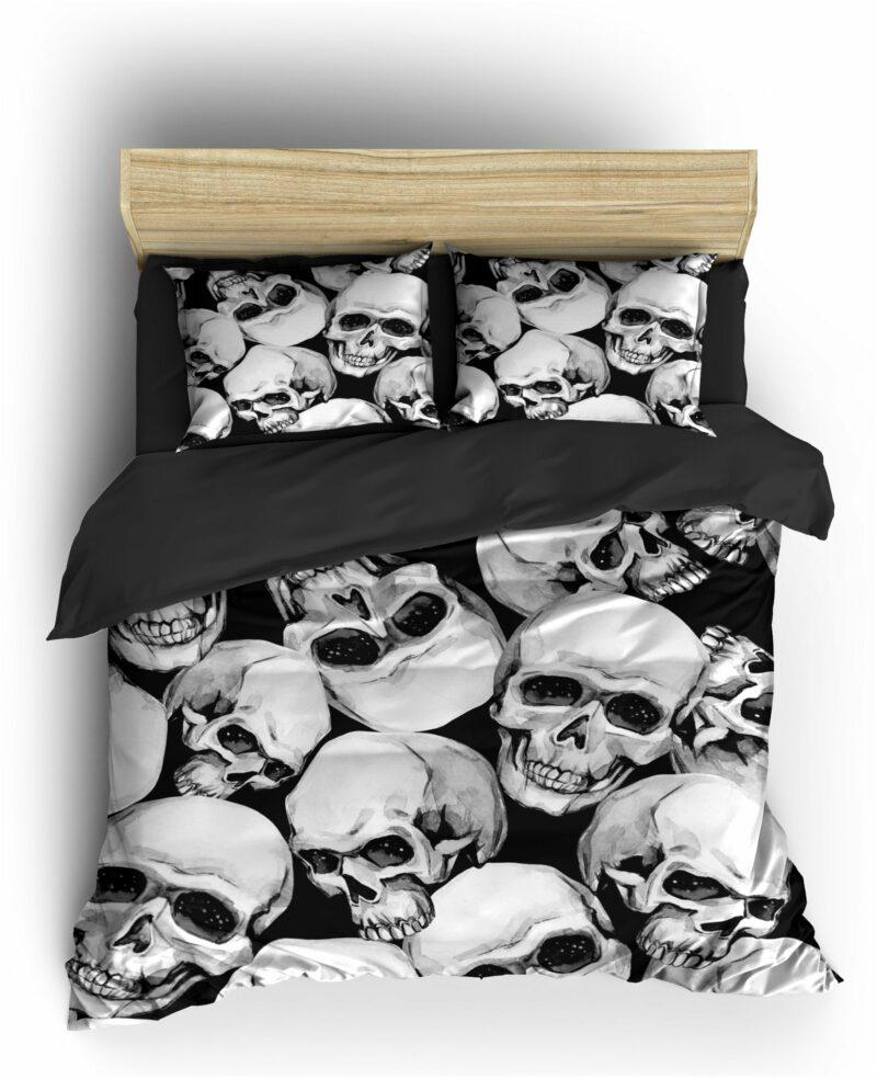 Comforter Cover Skull & Crossbones Black & White