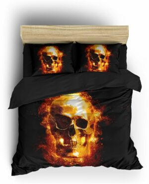Fire Death's Head Duvet Cover