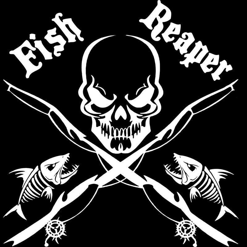 fish stickers skull deco