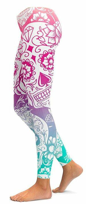 Mexican Skull Legging Design