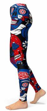 Realistic Mexican Skull Legging