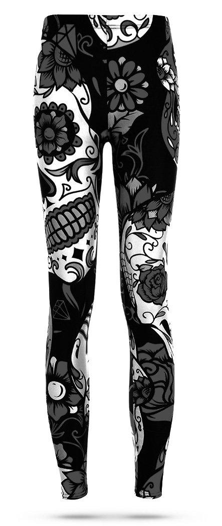 Black and White Skull Legging