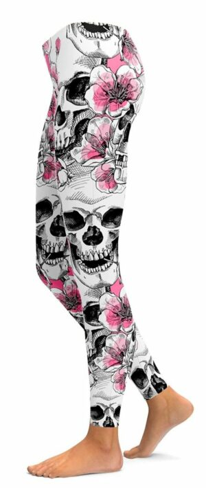Skull Legging Flowers