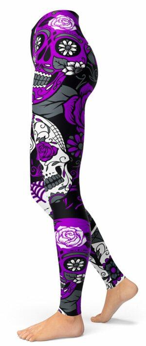 Purple Skull Legging