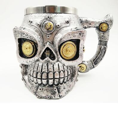 Robot Skull Mug.
