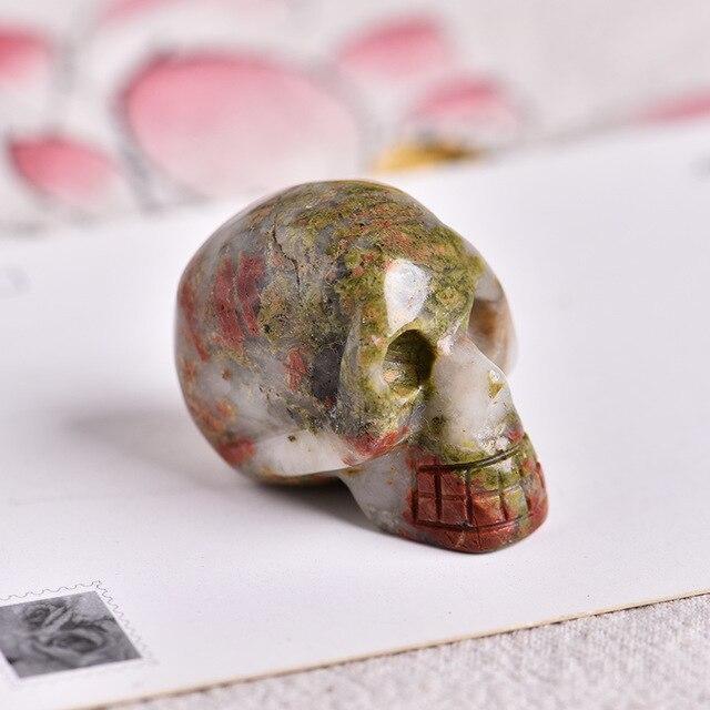 Small Aventurine skull