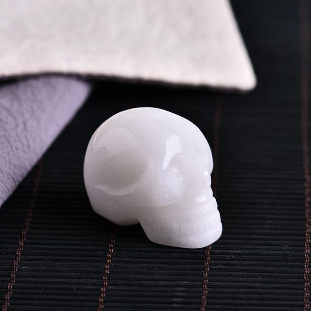 white quartz skull