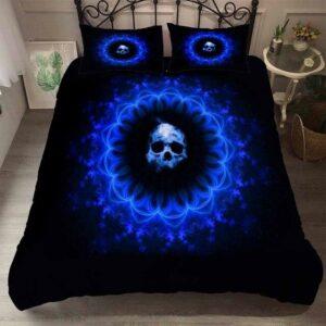 Blue Skull Bedding Set