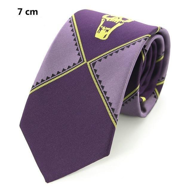 Purple Men's Skull Tie