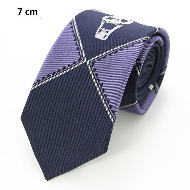 Blue Skull Necktie