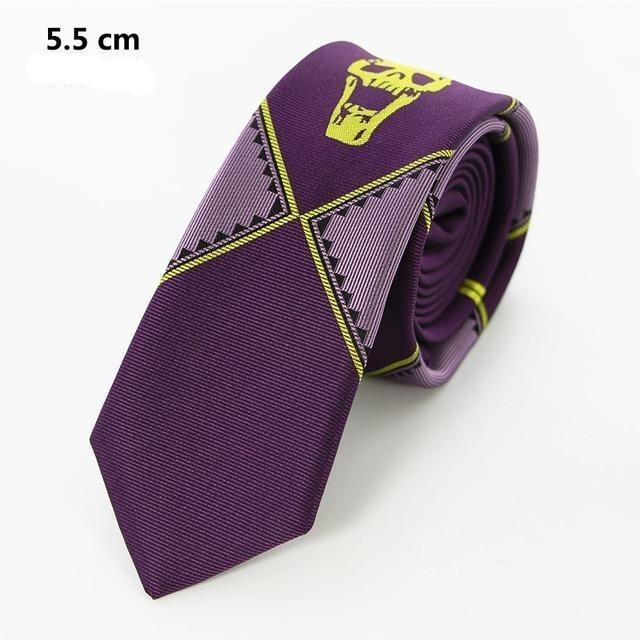 Purple Skull Tie