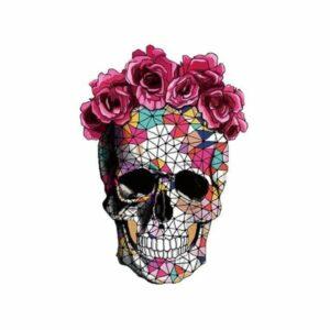 Skull & Crossbones With Flowers Transfer