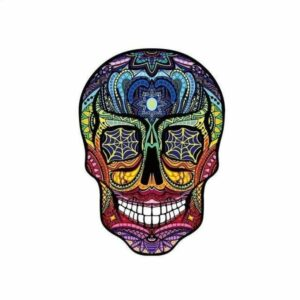 Colored Mexican Skull Transfer