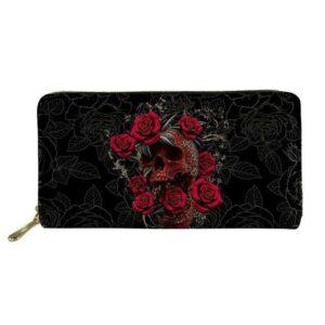 Flowered Skull Wallet