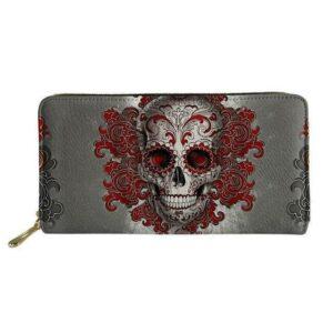 Leather Skull Wallet