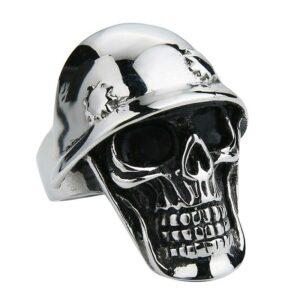 Steel Skull Ring Soldier