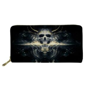 Flaming Gothic wallet