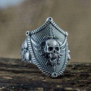 Knight Skull Ring