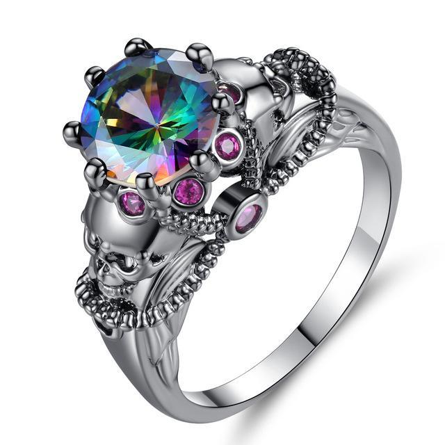 Flaming Gothic Ring