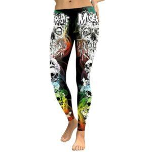 yoga skull leggings
