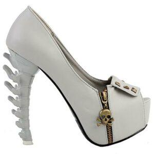 White Skull Shoe