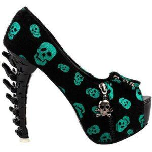 Fluorescent Skulls Court Shoe