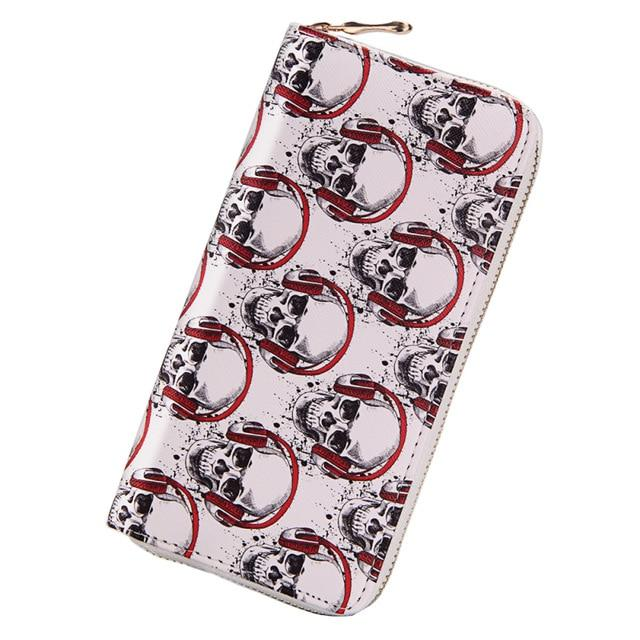 Music skull wallet