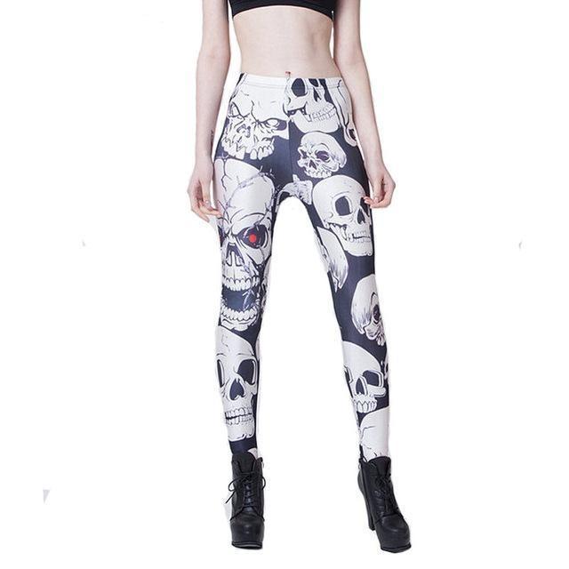 furious skull leggings