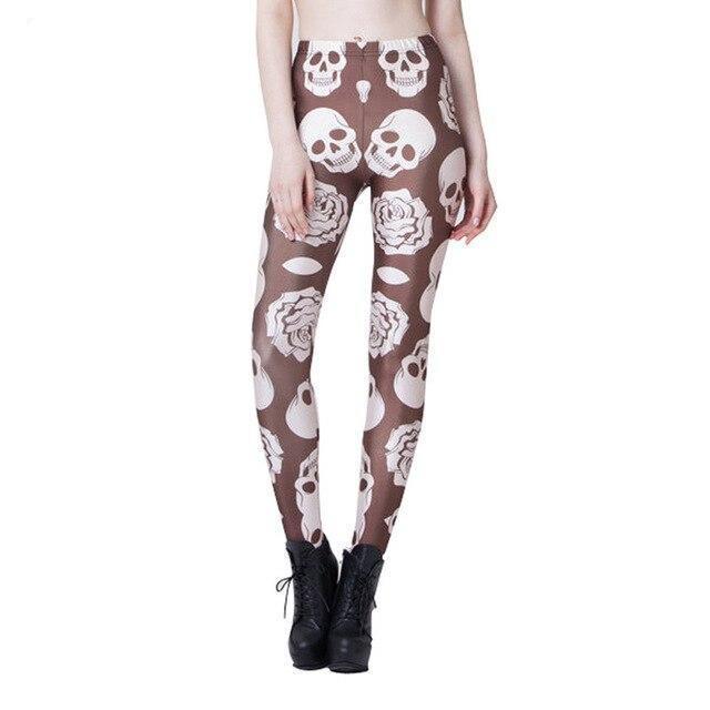 Brown skull leggings