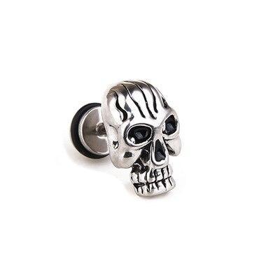 Silver Skull Earrings