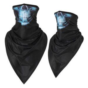 blue skull bandana.