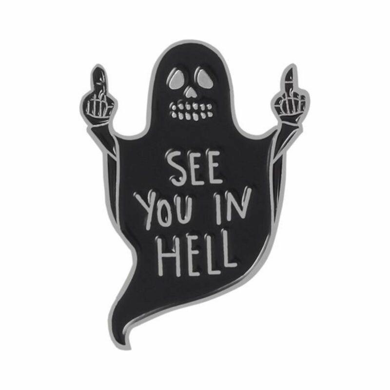 Black Ghost Pin