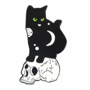 Black and White Cat Pin