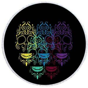 Multicolored Skull Towel