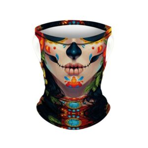 Mexican Skull Neck Cover for Woman