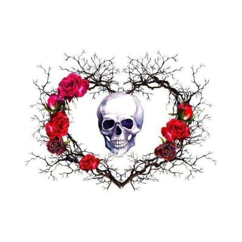 Skull & Crossbones Heart Transfer