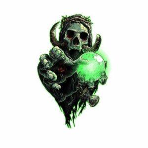 Green Skull Transfer