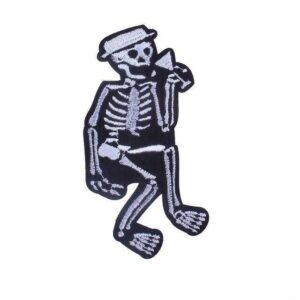 Black and White Skeleton Patch