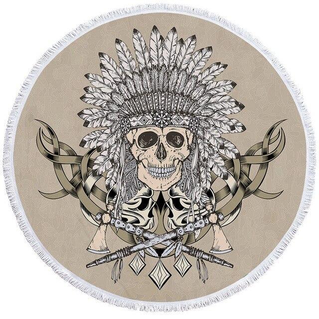 Feathered Skull Towel