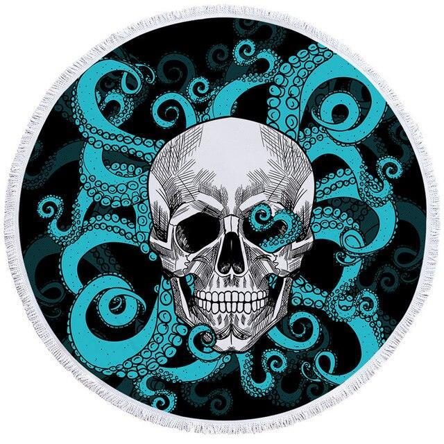 Octopus Skull Beach Towel