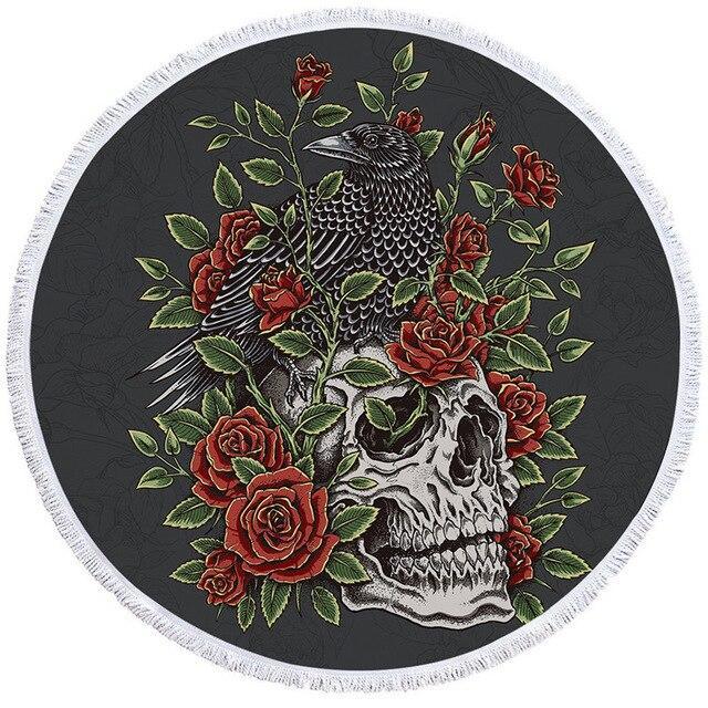 Crow Skull Towel