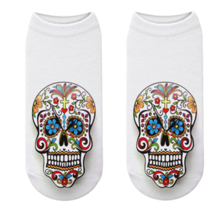 Mexican Skull Sock Colorful