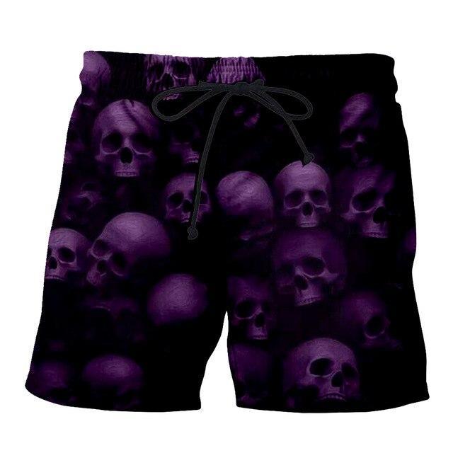 Purple Skull Short