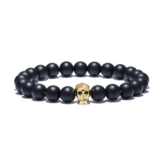 Men's Skull Beads Bracelet 8mm