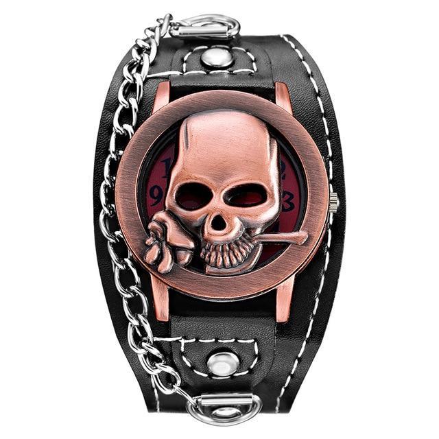 Flower Skull Watch Bracelet