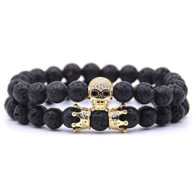 Shamballa Skull Bracelet